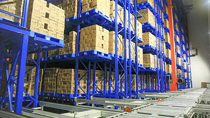 印度尼西亚泗水的Aice冷冻仓库堆垛机立体库系统