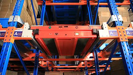 印度尼西亚泗水的Aice冷冻仓库-穿梭货架系统